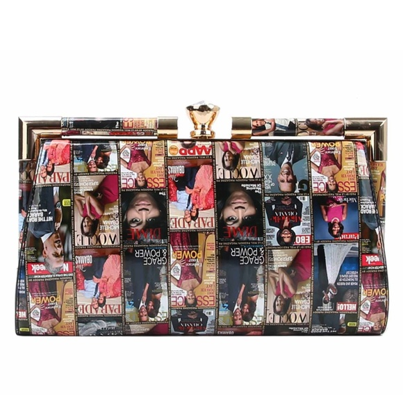 My Bag Lady Online Handbags - Michelle Obama Magazine Clutch
